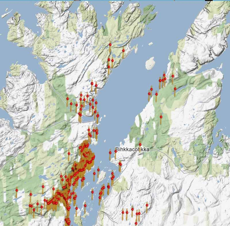 porsanger kart Om sjøsamenes næring og ressursutnyttelse i Porsangerfjorden